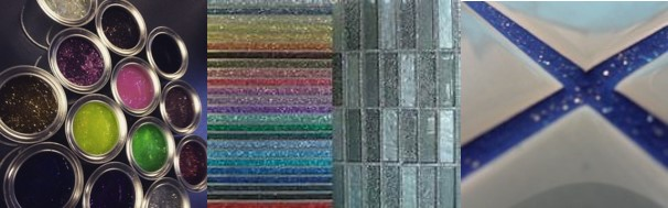Glitter Grout comes in 10 colors